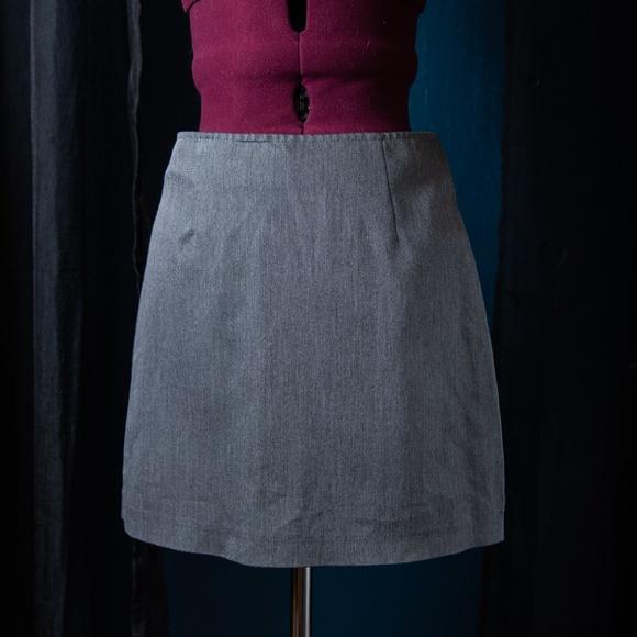 XOXO Dresses & Skirts - XOXO Vintage 90's Basic Gray Mini Skirt